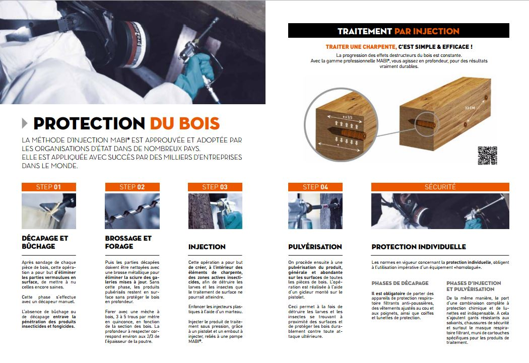 Traitement charpente bois injection for Traitement charpente par injection